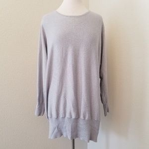 Lane Bryant Outlet Size 22/24 Gray Shimmer Sweater